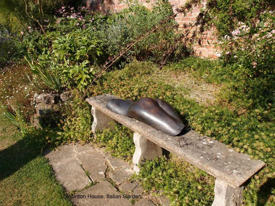 Pert Buttocks, sunning in the Italian Garden