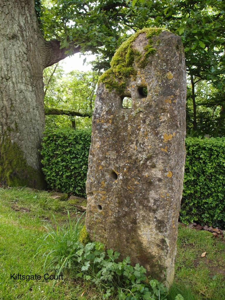 Near the Yellow Border, an old stone gatepost rescued from a nearby field has become a piece of sculpture.