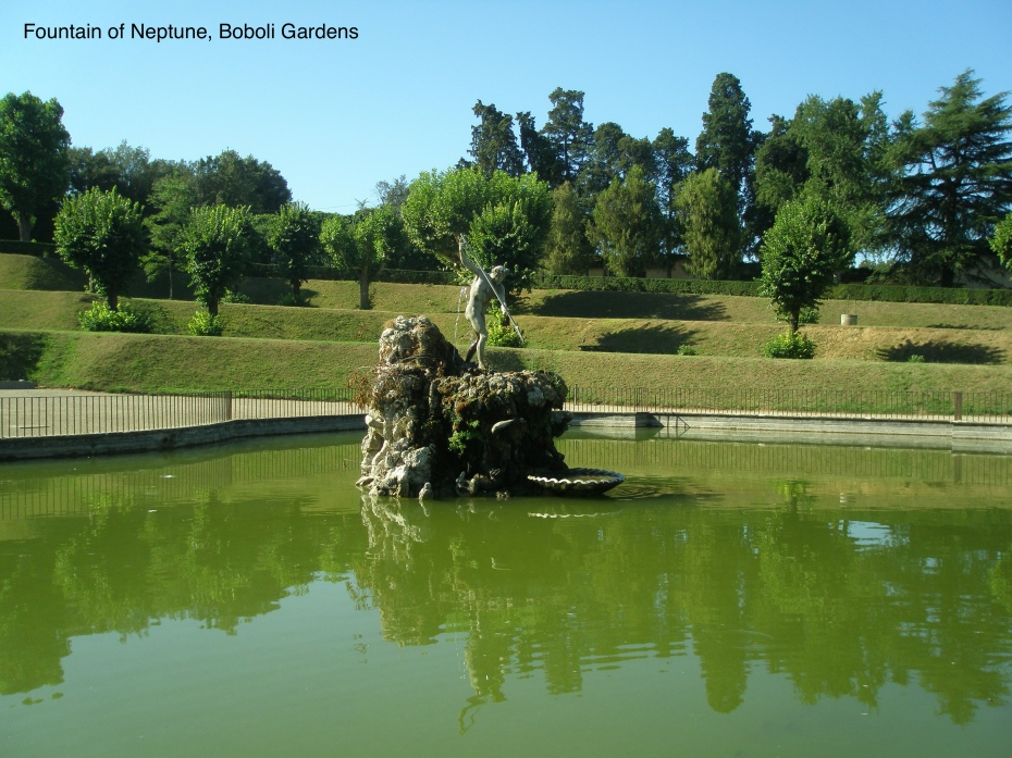 The Neptune Fountain, in the Boboli Gardens