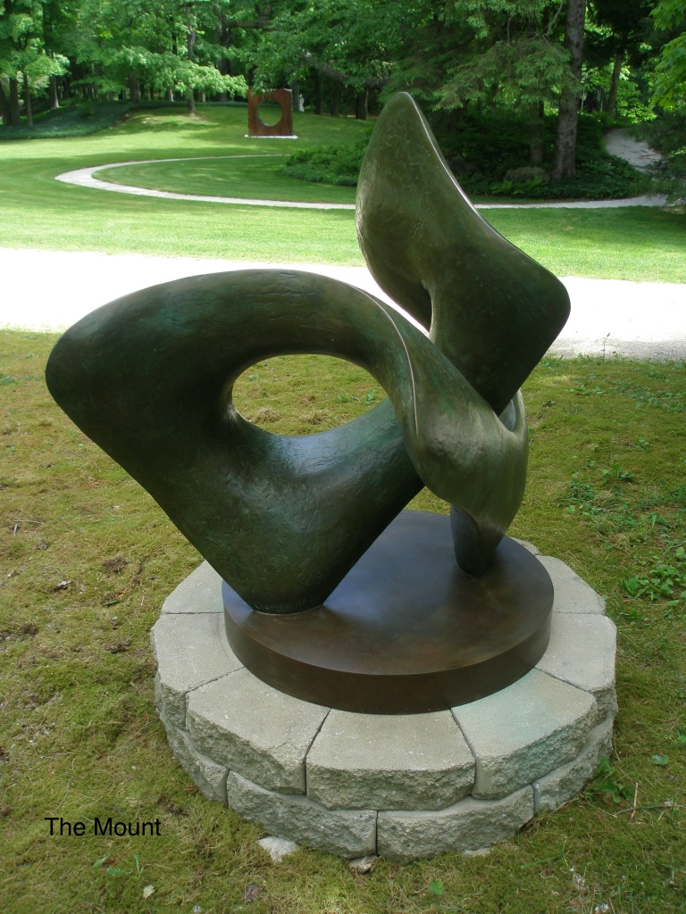 Sculpture, near the carriage road by the Main House