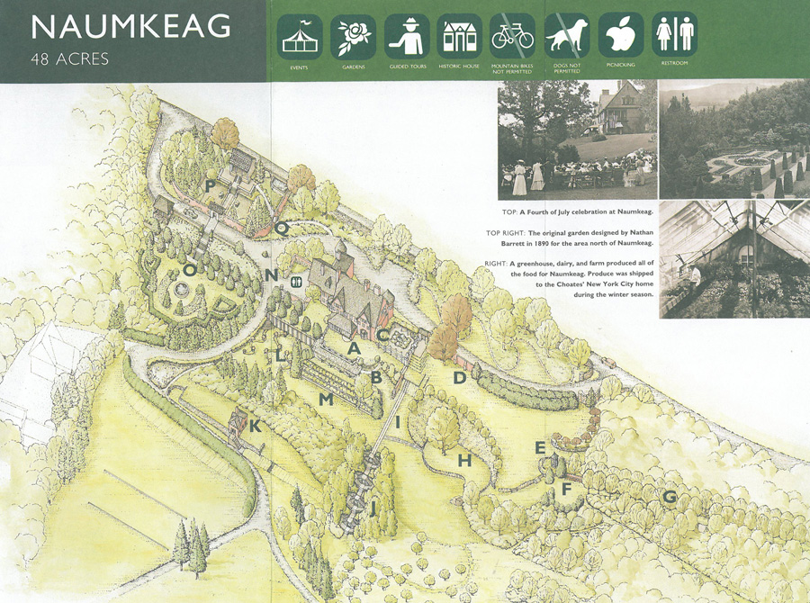 Map of the Gardens at Naumkeag