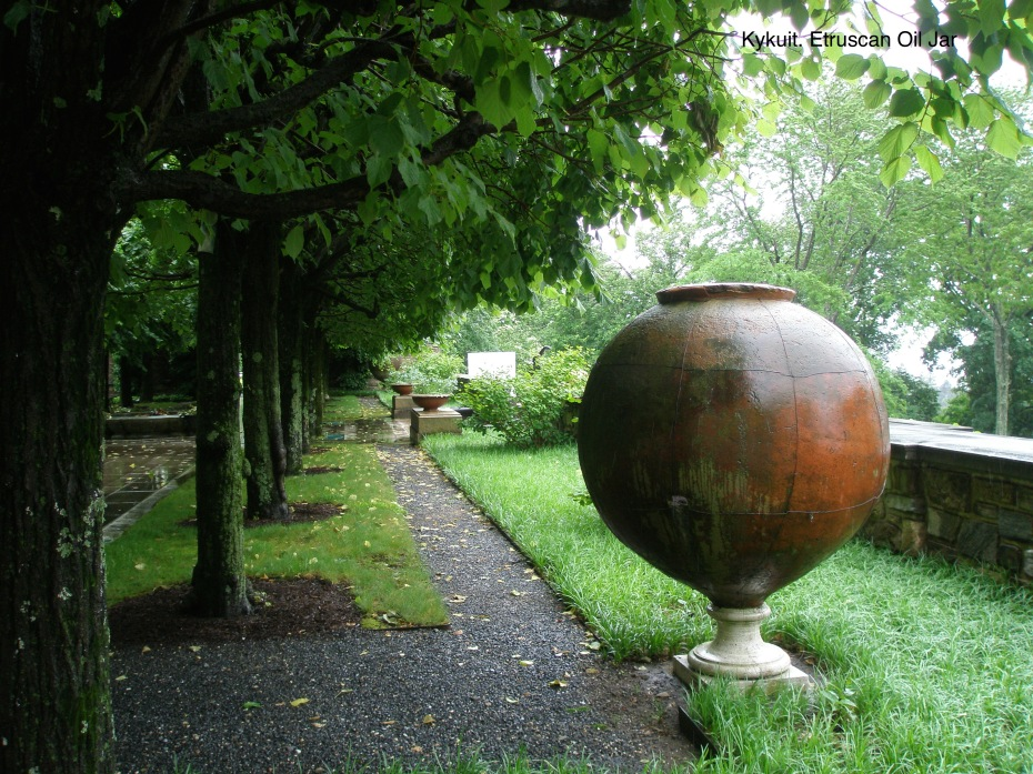 One of a pair of Giant Etruscan Urns, at the top of the West Garden
