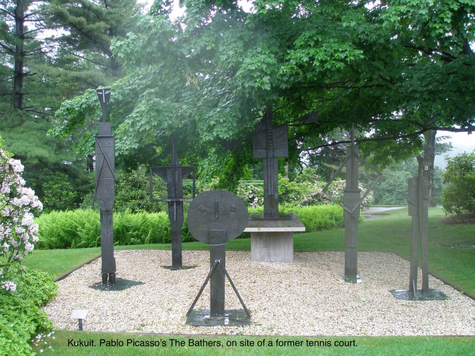 Sculptures from 1956, near the Brook Garden