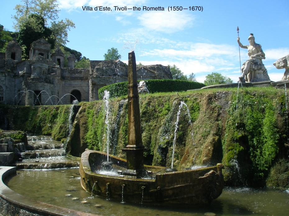 The Rometta, in the gardens of Villa d'Este. Tivoli, Italy.