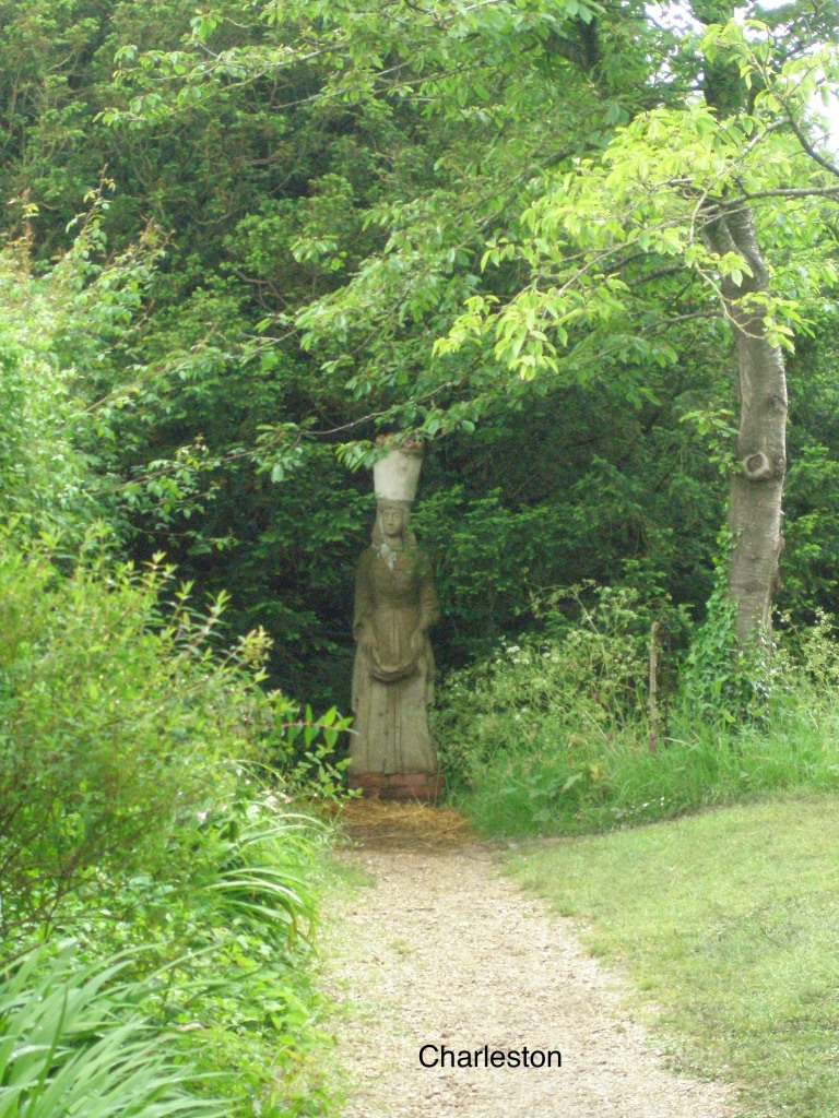 And Quentin Bell's statue of POMONA, also made in 1954, guards a path to the Orchard. Pomona is a Roman goddess, and the keeper of fruit trees.