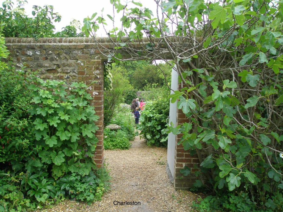 We enter the Walled Garden, which is behind the House