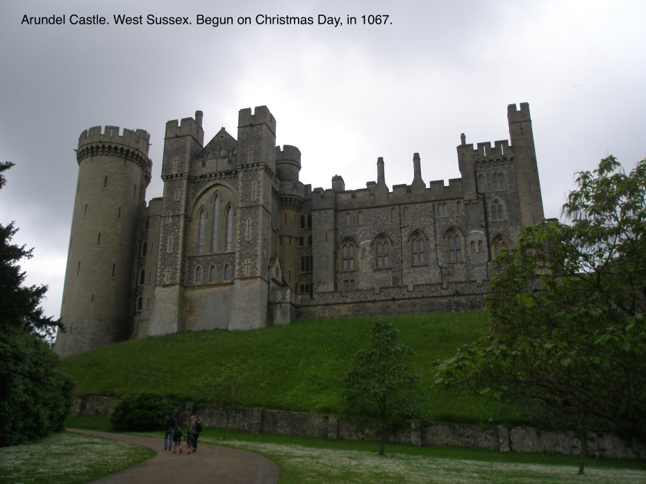 I approached Arundel Castle, on a stormy day in May of 2014.
