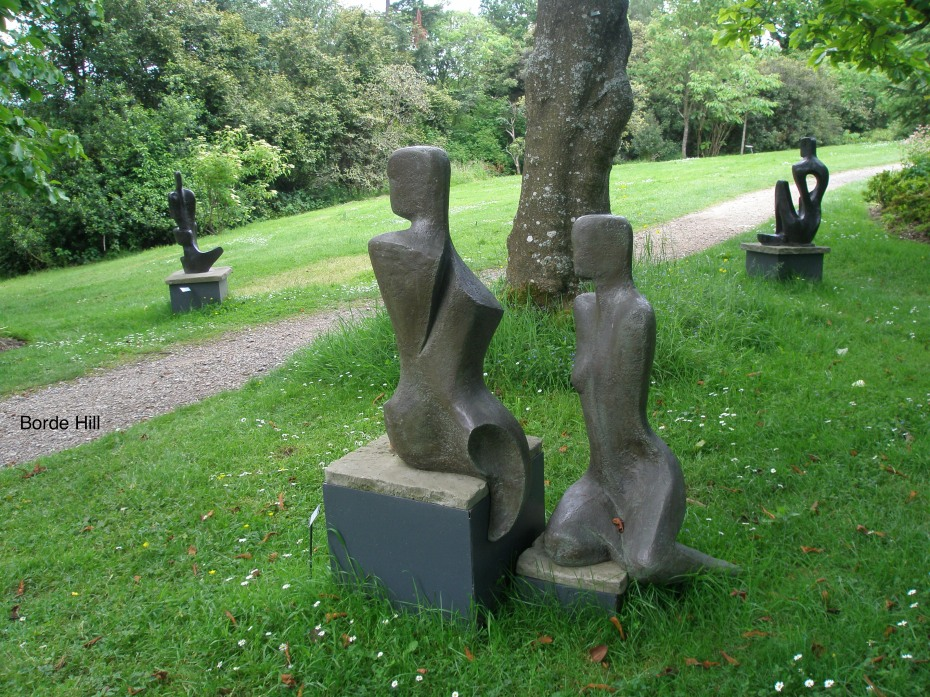 A grouping of figures, in the Arboretum