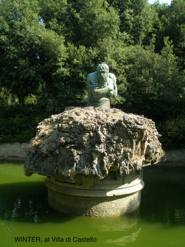 The Winter Fopuntain, at Villa di Castello