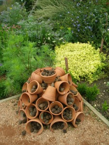 A very simple Insect Hotel, in the Veggie Garden of Packwood House, in Warkwickshire, England