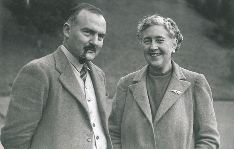 Agatha Christie and her 2nd husband, Max Mallowan, in 1946. Image courtesy of The National Trust.