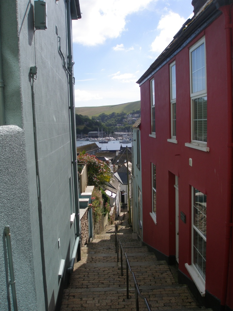This stairway, which connects Above Town to the lower regions of Dartmouth, has over 100 steps...which we climbed regularly. Dartmouth-walking will either make you stronger, or send you to hospital.