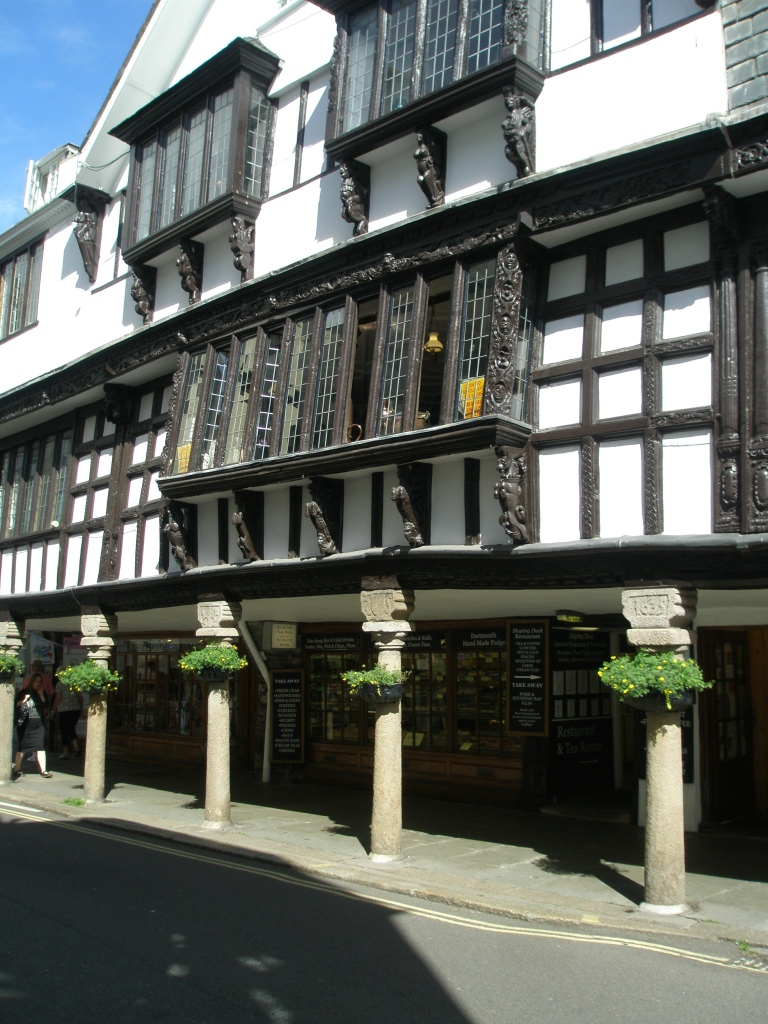 Just around the corner from the Royal Castle Hotel is the Butterwalk, which consists of 4 timber framed houses that date from 1628 to 1640.