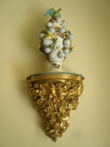 Porcelain decoration, in the Morning Room. Porcelain figures often figure in Christie's mysteries.
