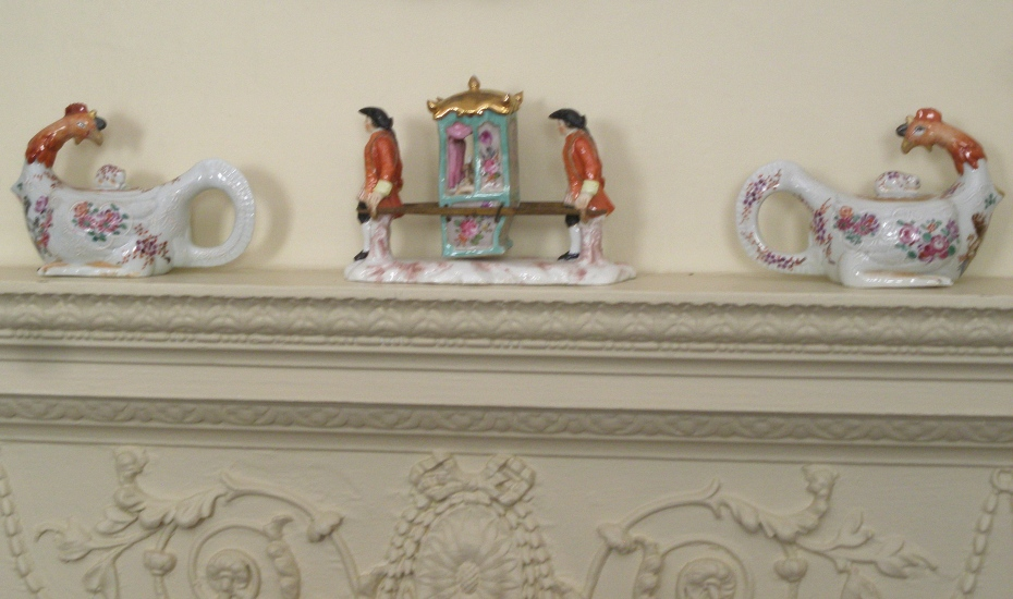 Detail of Morning Room mantle.
