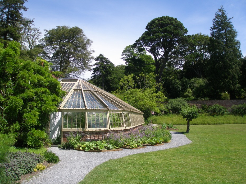 The South Walled Garden's Glass House.