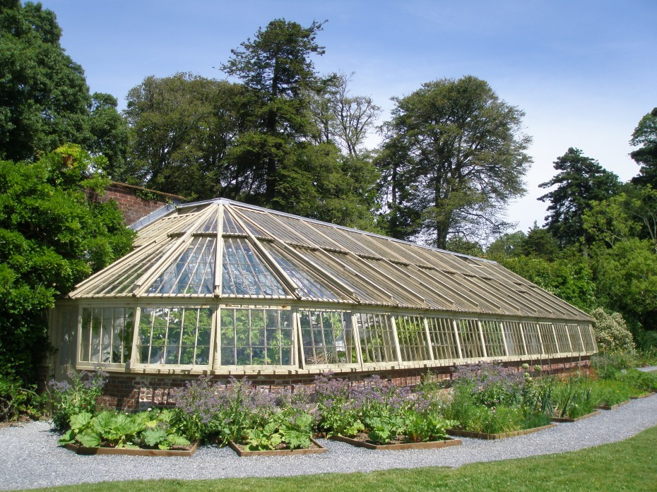 A closer view of the South Walled Garden's Glass House