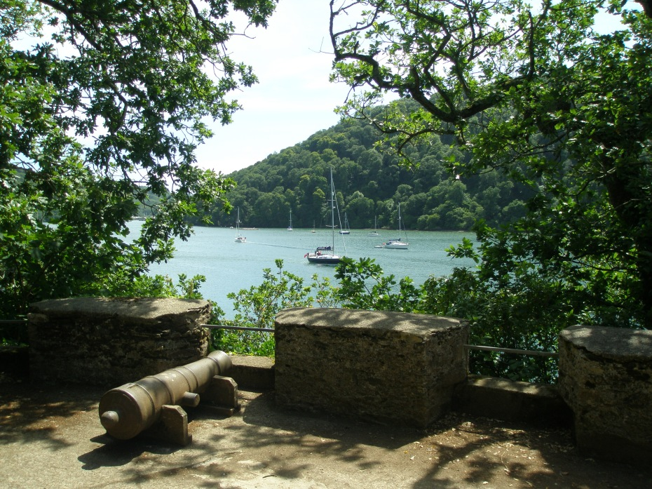 I looked southwards, over the emerald-and-blue waters of the River Dart.