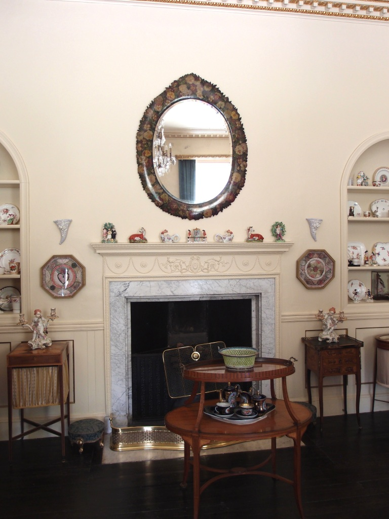 The Morning Room. The two niches flanking the fireplace will filled with the Hickeses' collection of botanical porcelain. The rest of the room was decorated with ornaments that Agatha inherited from her grandmother, and from her parents.