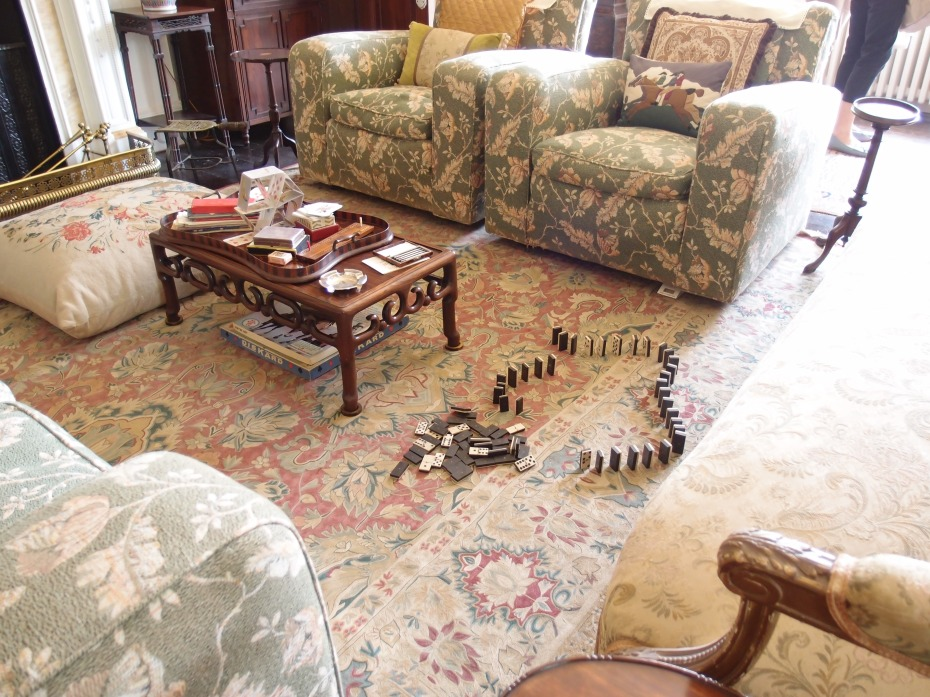 Dominoes, just waiting to cascade across the Drawing Room's carpet.