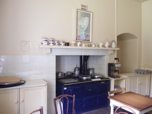The Kitchen's original range has been replaced by a very spiffy oil-fired Aga.
