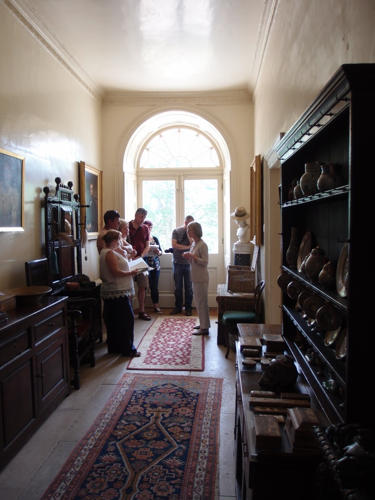 Constant streams of visitors enter the Front Hall