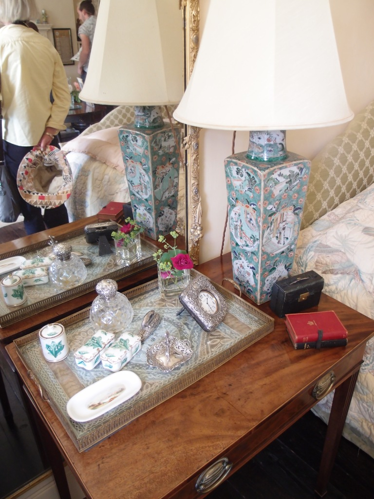 Agatha's bedside table (with Anne and her very nice Prada sunhat, reflected in the mirror).