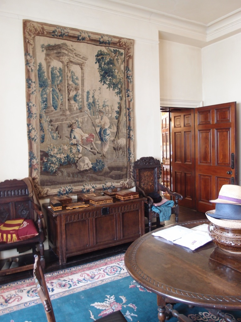 The commodious Inner Hall is thought to have originally been a billiard room. When the Mallowans purchased Greenway, their architect Guilford Bell transformed this space into yet another gallery for the display of their Treasures.