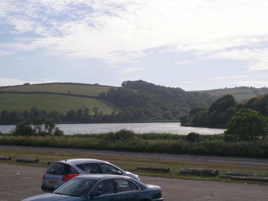 The lake at Slapton Ley is separated from the shingle beach by a spit of land. The hills that rise behind the lake are the unmarked and final resting places of many of the 946 Americans who died during Exercise Tiger, on April 28, 1944.