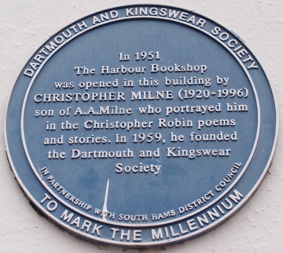 In 1951, Christopher Milne --- utterly sick of being known as Christopher Robin --- fled Pooh's Corner and East Sussex, and settled in Dartmouth, where he established his Harbour Bookshop. Christopher refused to EVER stock ANY of the Pooh stories; his bookshop is now closed, but not due to its boycott of A.A.Milne's publications.
