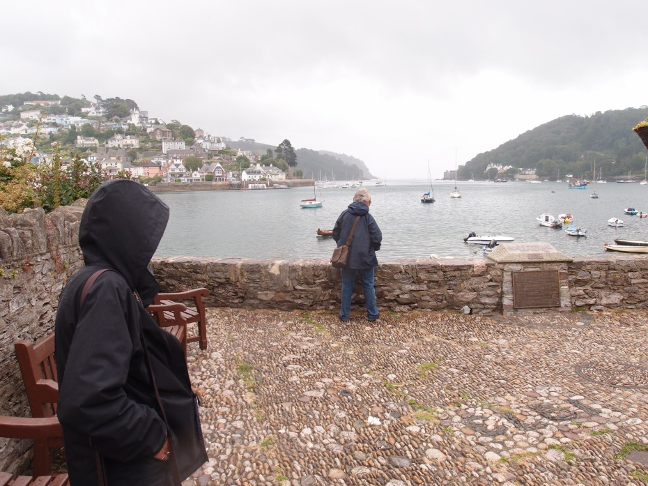 Anne and David, braving the rain, at Bayard's Cove