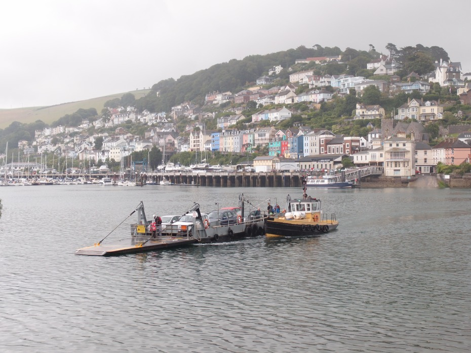 Later on, we'll take the Lower Ferry, over to Kingswear. Note that this Ferry isn't self-propelled. Instead, a nimble little Tugboat does all of the work.