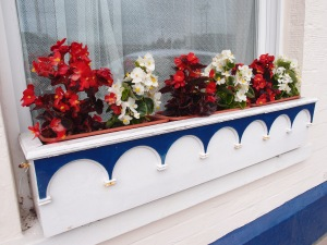 An appropriately-nautical window box