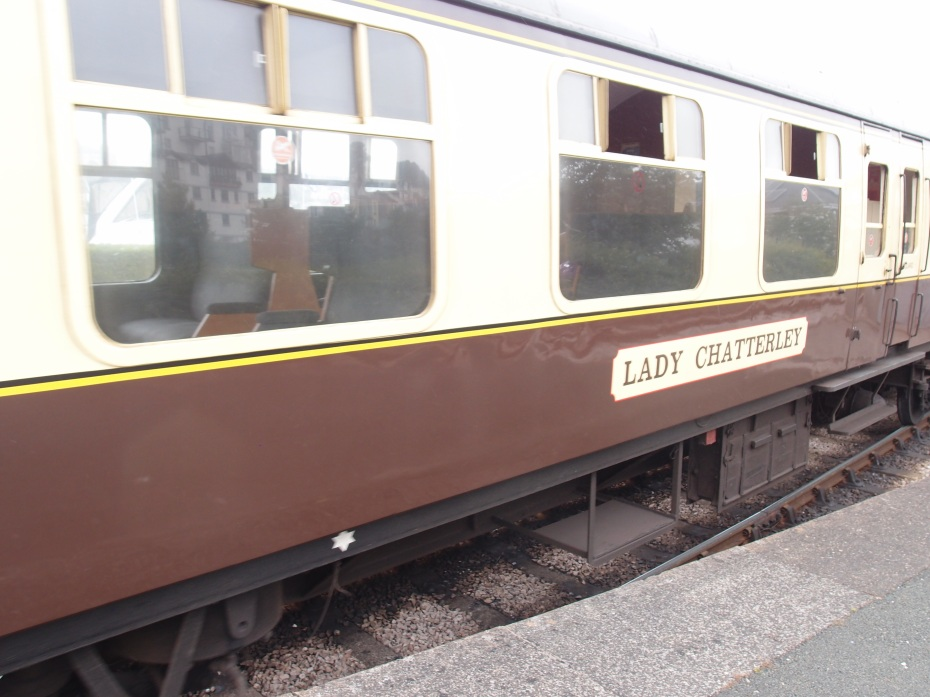 Can you imagine that Amtrak would name a passenger coach the LADY CHATTERLEY? I think not. Only in England could this happen...that's why I love the place so much.