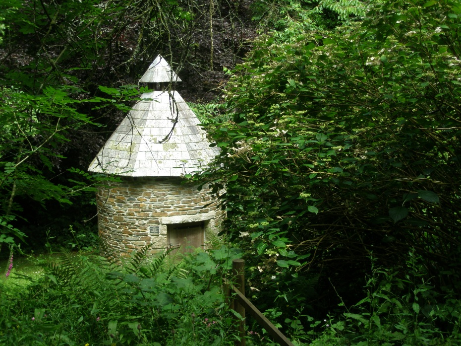 A Dovecote is tucked into the woods, north of the Summer Garden
