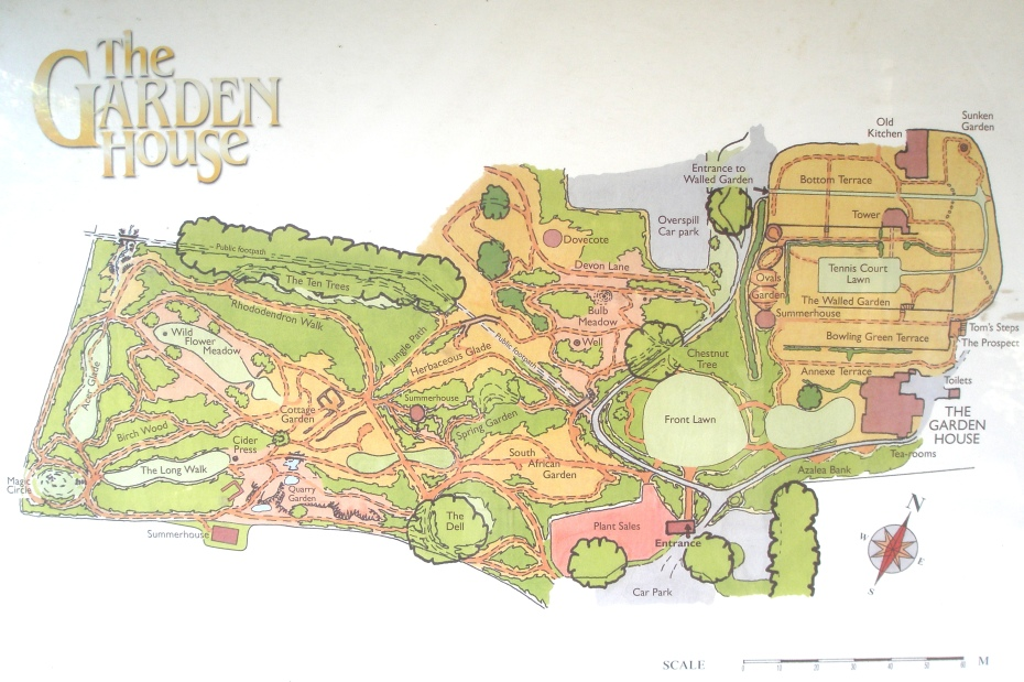 This Map --- somewhat different from the Map illustrated on the Garden's pamphlet -- is posted at the Garden's Ticket Booth.