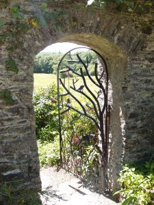 This gate separates the Cider House Garden and the Wild Garden