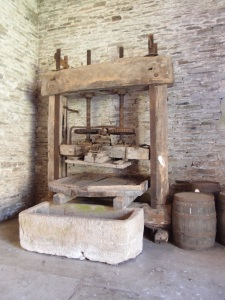 An 18th century Cider Press is installed at the north end of the Great Barn.