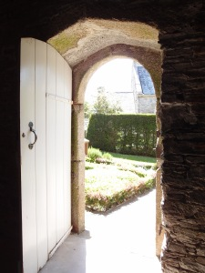 I exited the Great Barn through this west-facing doorway.
