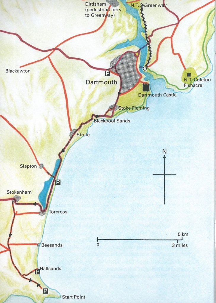 Map of Slapton Sands (also known as Slapton Beach). Image courtesy of Robert Hesketh's DARTMOUTH: A SHORTISH GUIDE.