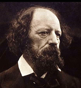 Alfred, Lord Tennyson (born 1809, died 1892). Poet Laureate of Great Britain during much of Queen Victoria's reign.