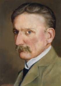 Self-portrait, by Otto Overbeck (born 1860, died 1937). Image courtesy of the National Trust.