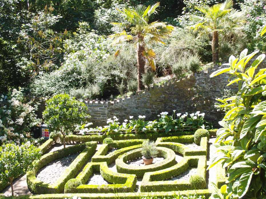 The Secret Garden overlooks this Parterre, which was planted by the National Trust in 1991. The clipped box hedging is cut twice a year, by hand.