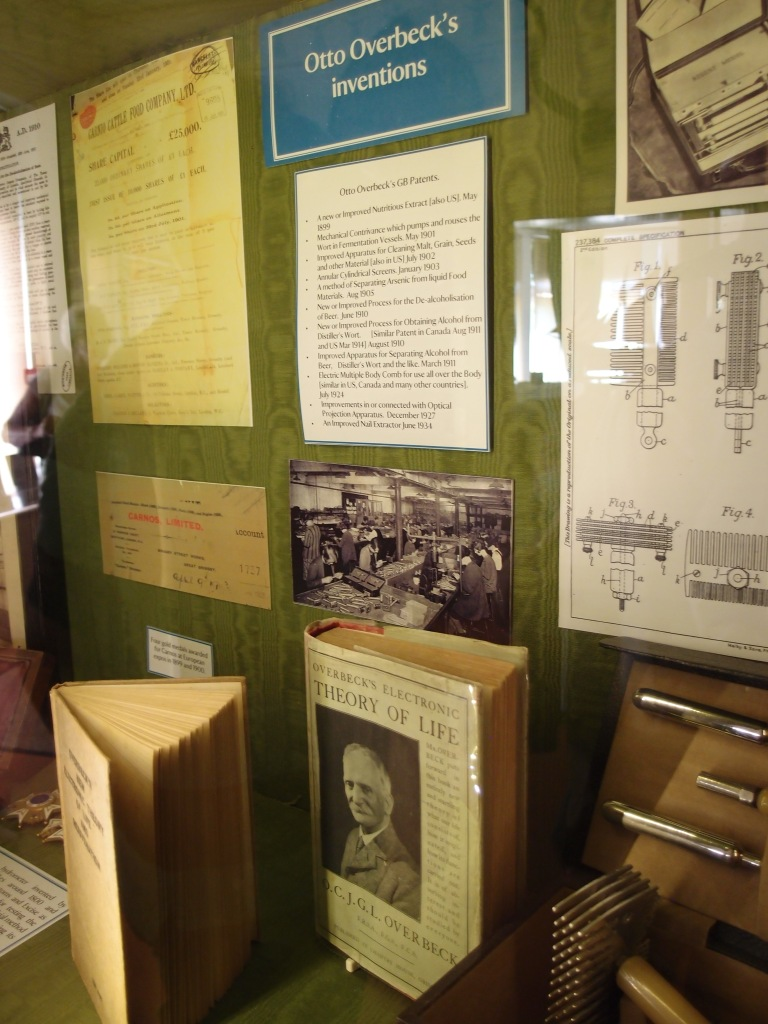 Displayed in the House: some of Overbeck's inventions and publications.