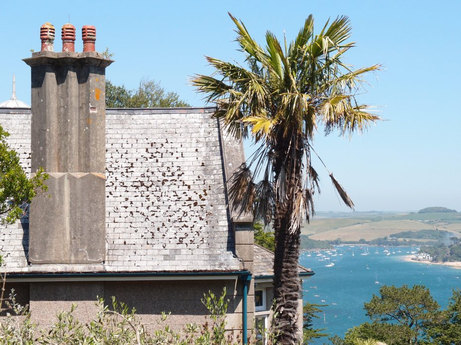 From the Gazebo Garden, we take a closer look at the House chimneys.