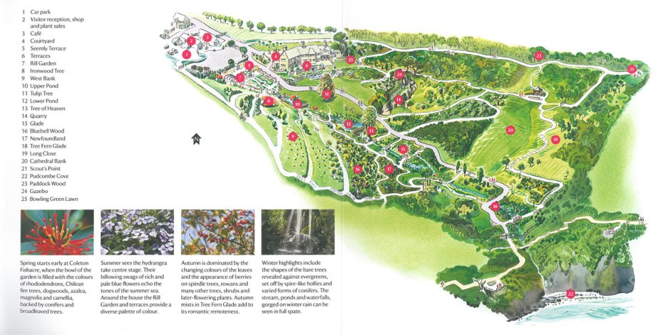Plan of the gardens at Coleton Fishacre. Image courtesy of the National Trust.