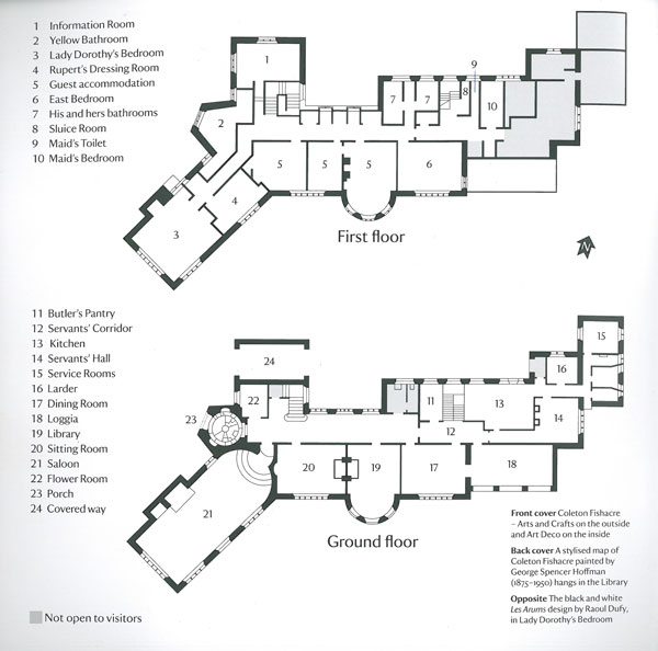 Coleton Fishacre: House Plans. Image courtesy of the National Trust.