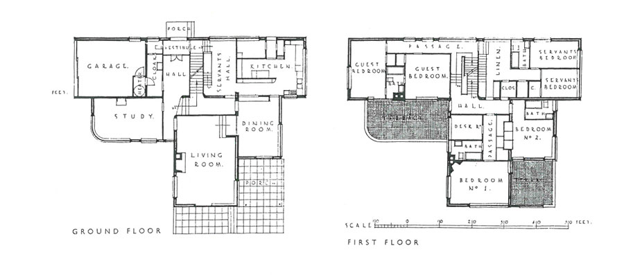High Cross House: Floor Plans