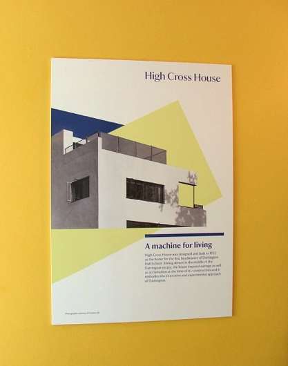 During the National Trust's brief stewardship of High Cross House, this sign was on display. Photo by Anne Guy.