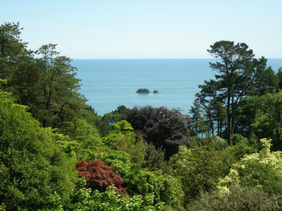 My final view of the English Channel, from the Gazebo at Coleton Fishacre.